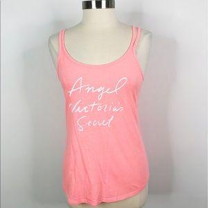 Victoria's Secret Angel Scoop Neck Tank Top Pink M